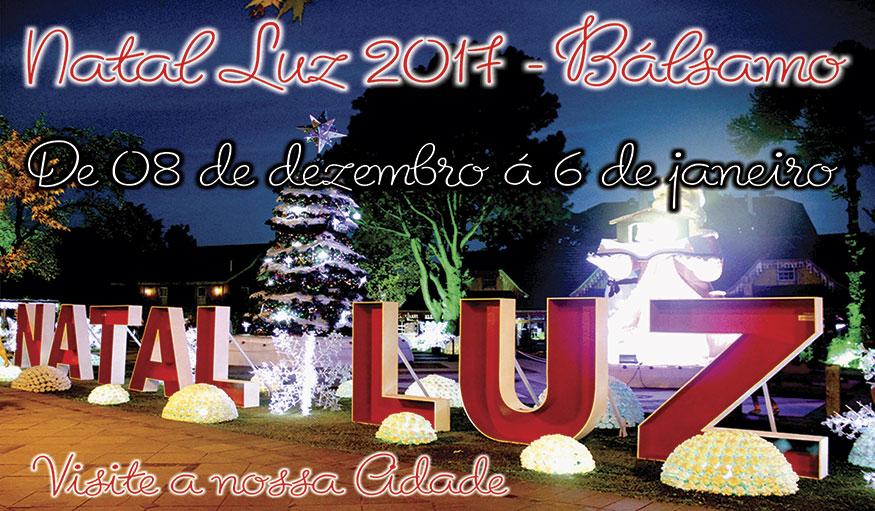 Natal Luz de Bálsamo deve atrair região este ano