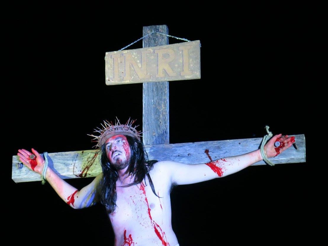 Equipe da encenação da Paixão de Cristo
