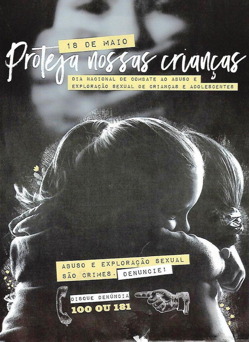 Campanha de combate a exploração sexual de crianças