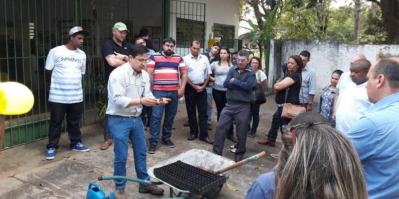 Fundo Social Municipal em parceria com o Fundo Social Estadual e CATI trazem Horta Educativa para Bálsamo