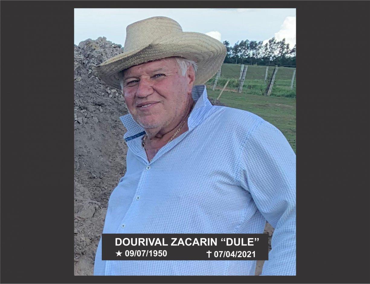 """NOTA DE FALECIMENTO - DOURIVAL ZACARIN – """"DULE"""""""