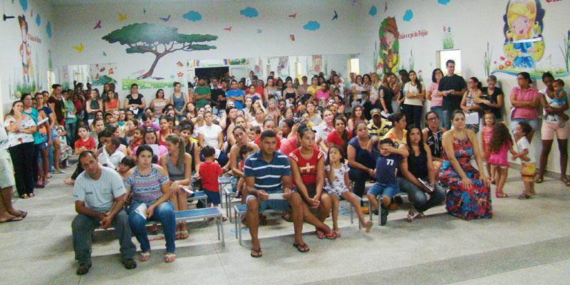 Escola João Flores faz reunião com pais e elege conselhos na presença do prefeito Du Lourenço