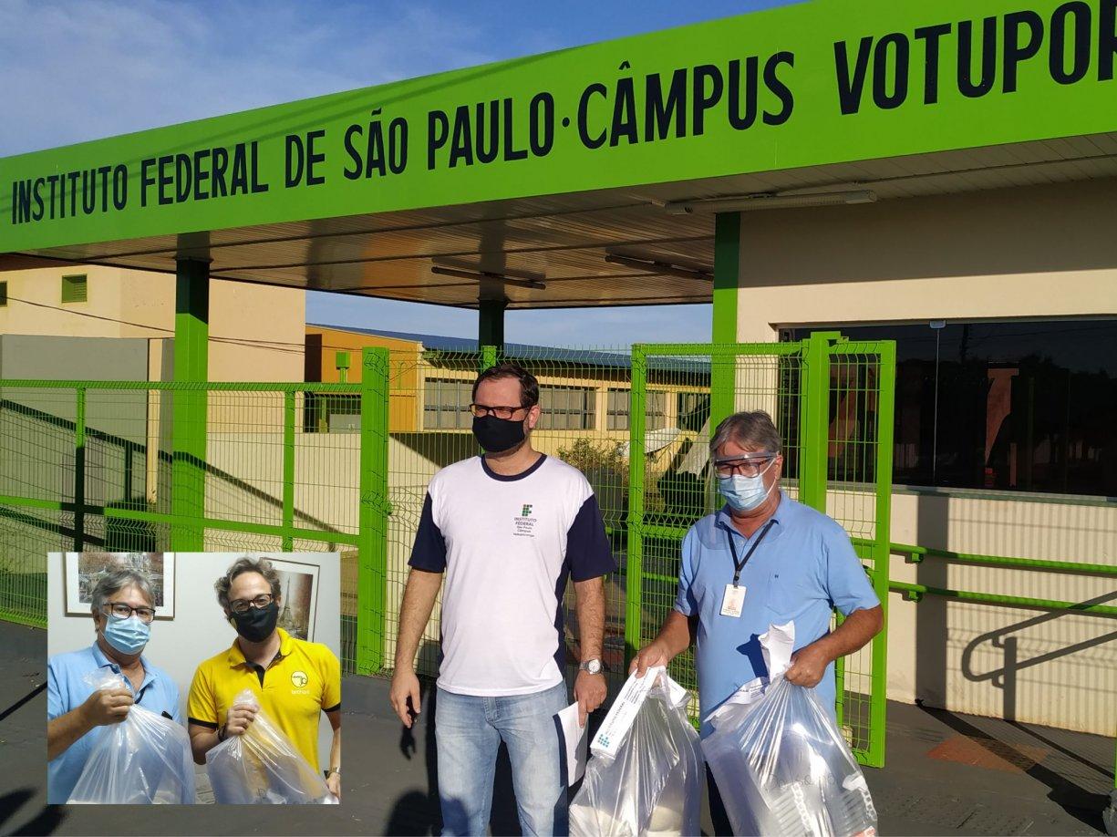 Instituto Federal de São Paulo doa 80 máscaras Face Shields para Bálsamo