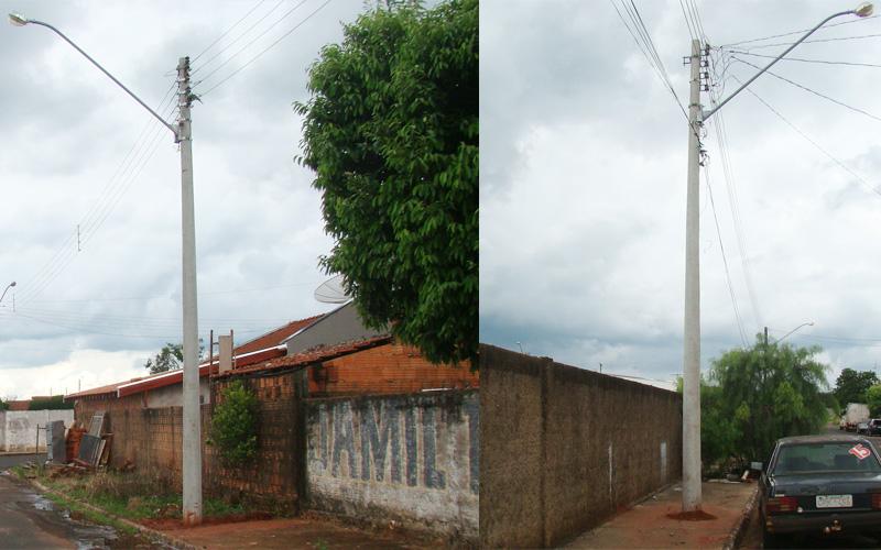 CPFL Energia atende oficio da prefeitura e substitui postes que ofereciam perigo à população.