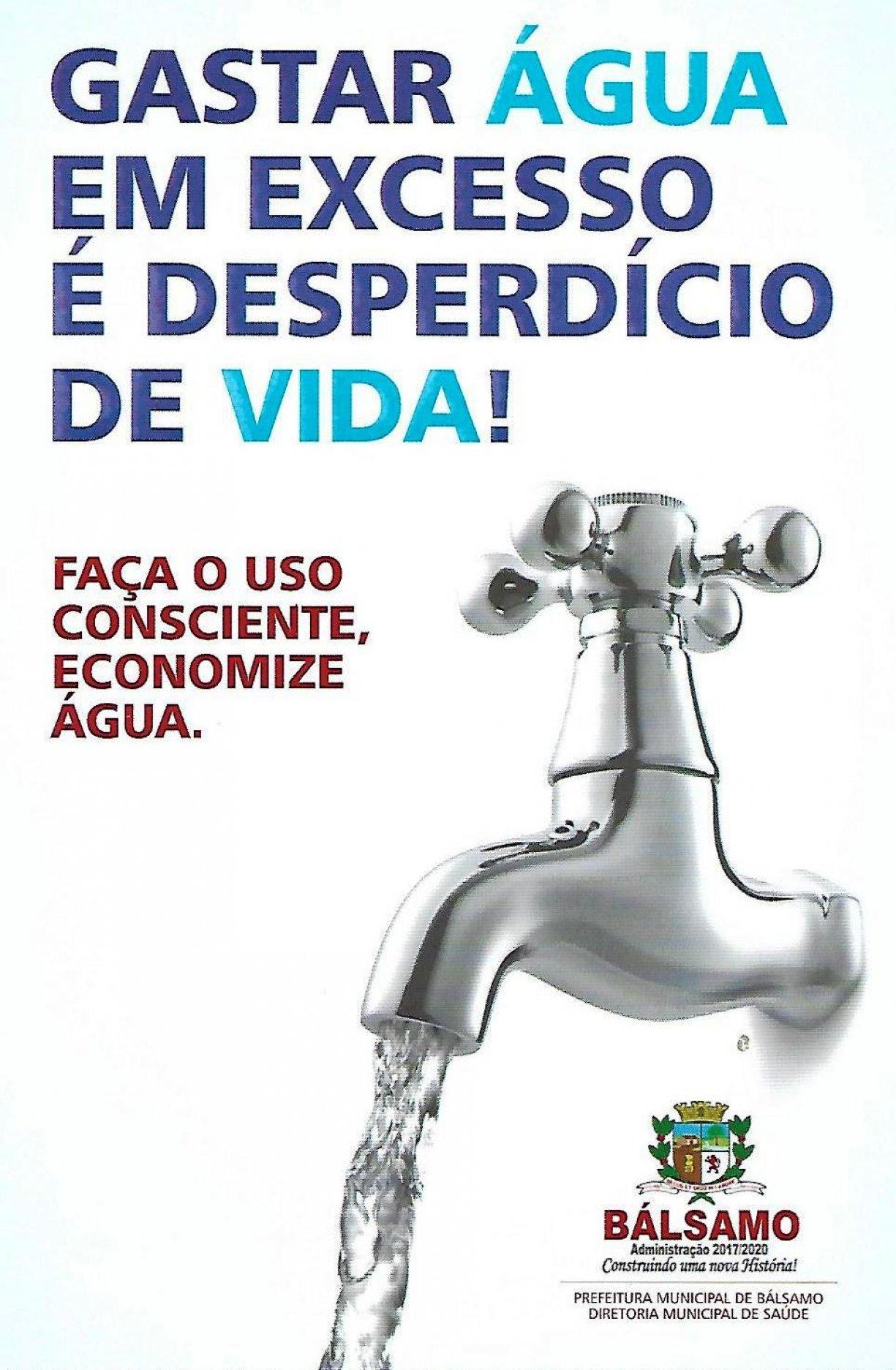 DIA MUNDIAL DA ÁGUA: Prefeitura pede conscientização e uso racional da água tratada.
