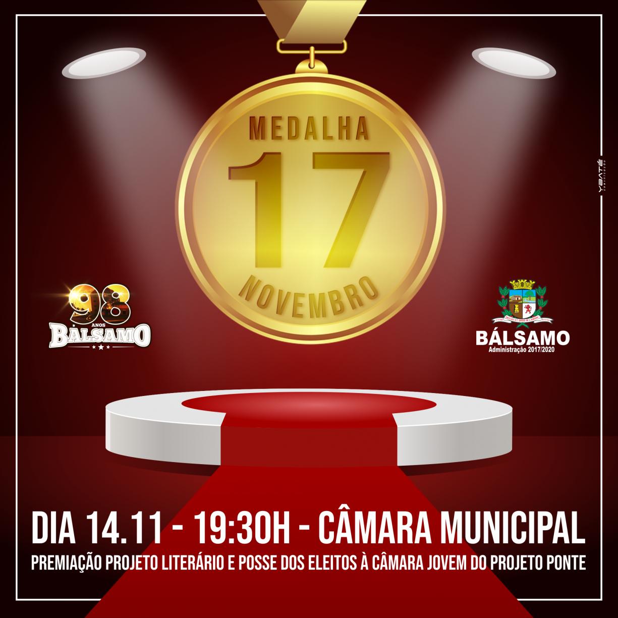 Entrega da Medalha 17 de Novembro, Copa Palmeiras de Futsal e Hasteamento das Bandeiras marcam os 98 anos de Bálsamo.