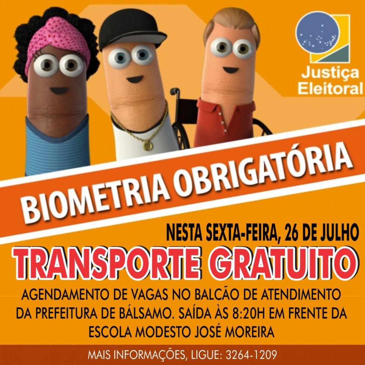 Governo de Bálsamo cede ônibus para cadastro obrigatório da Biometria