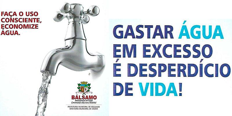 Em época de estiagem prolongada a prefeitura pede conscientização e uso racional da água tratada.