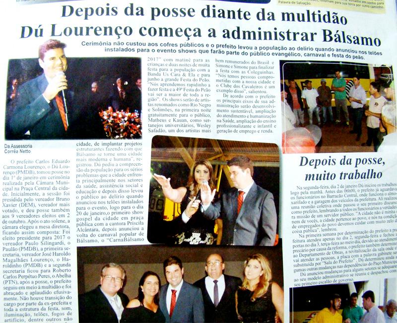 Prefeitura de Bálsamo é destaque na imprensa regional