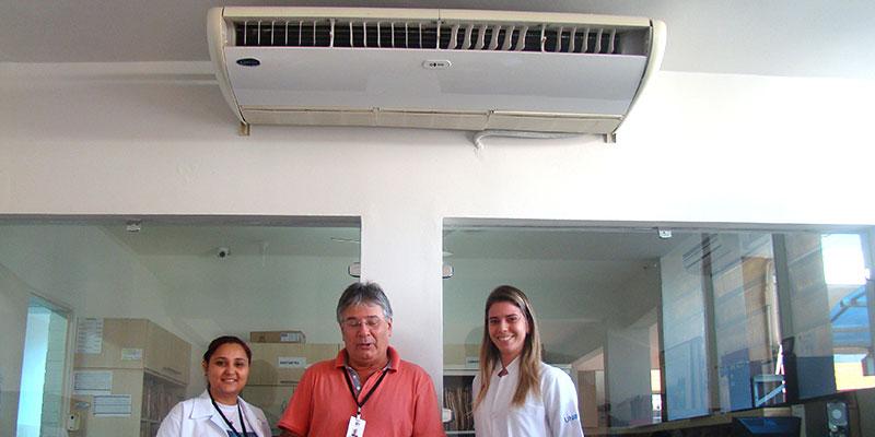 Clube dos Cavaleiros doa aparelho de Ar Condicionado para o Posto de Saúde de Bálsamo
