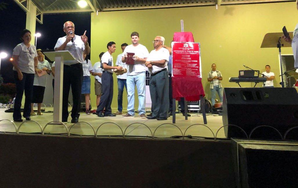 Prefeito Du participa do IV Bálsamo para a Vida e reinaugura Praça da Bíblia