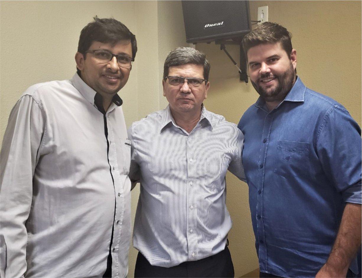 Prefeito Du Lourenço recepciona o deputado estadual Dimas Mecca