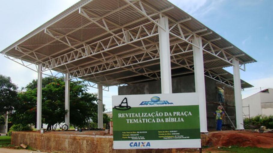 Praça da Bíblia espera liberação de recursos do Ministério do Turismo para conclusão da obra