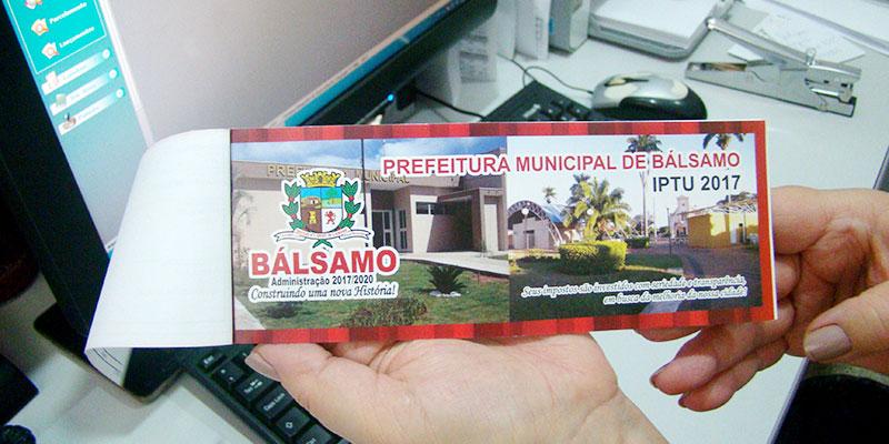 Credibilidade da administração atrai contribuintes para o pagamento de impostos em Bálsamo