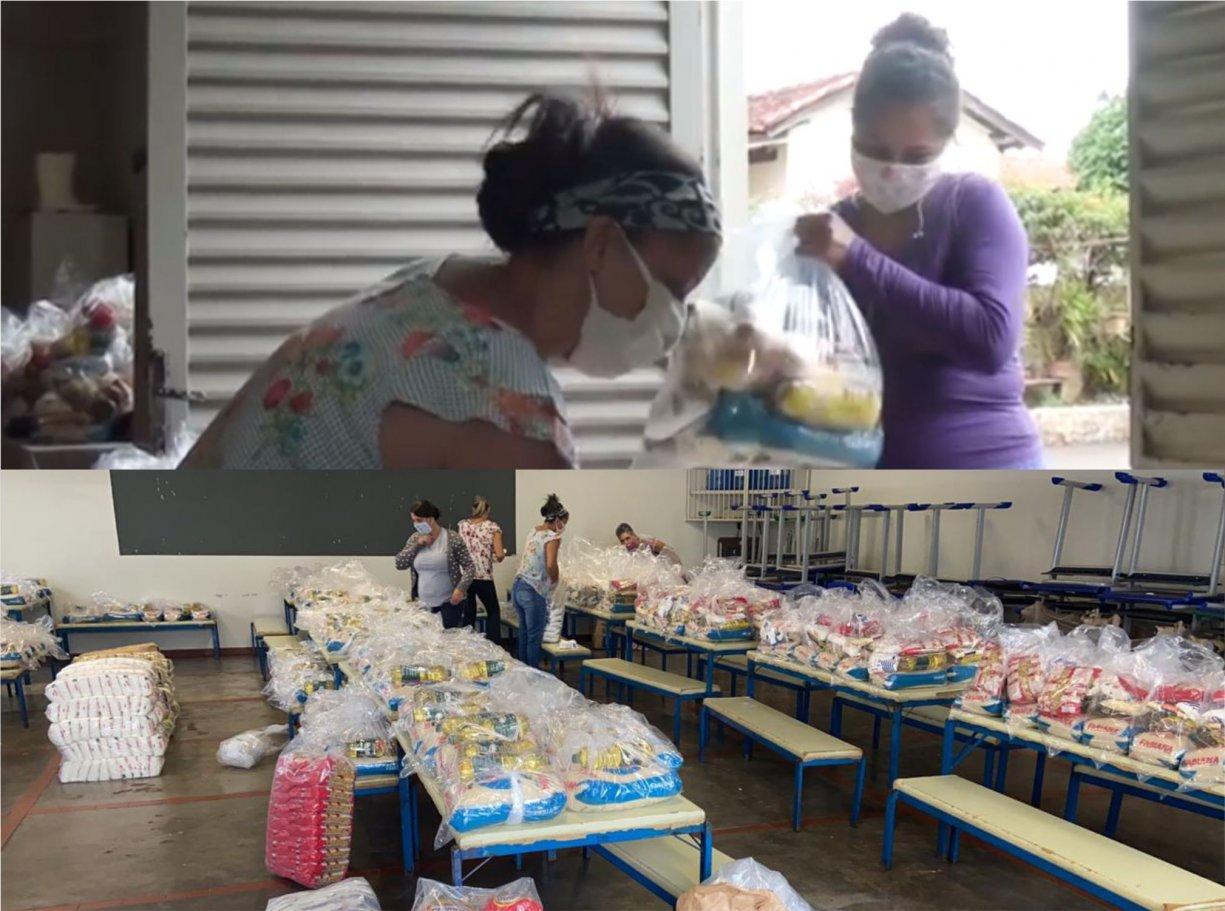 Alunos de rede municipal recebem kits de merenda escolar em Bálsamo