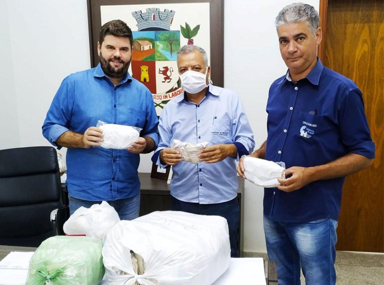 Hospital de Base recebe doação de máscaras