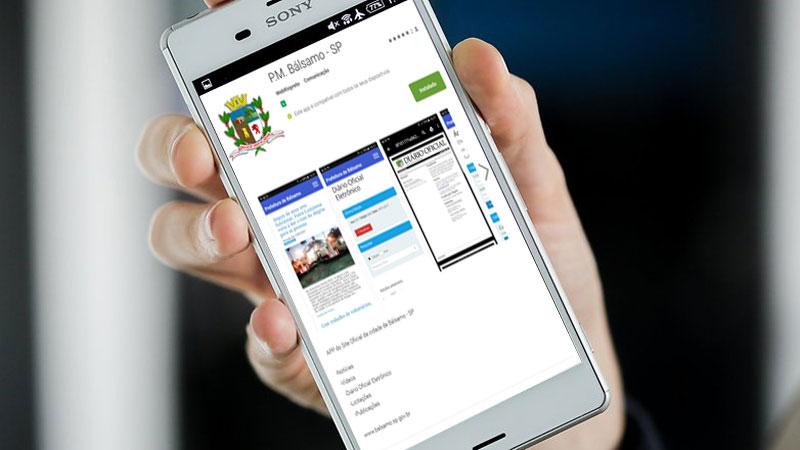 Agora você acessa o site oficial de Bálsamo na palma da mão