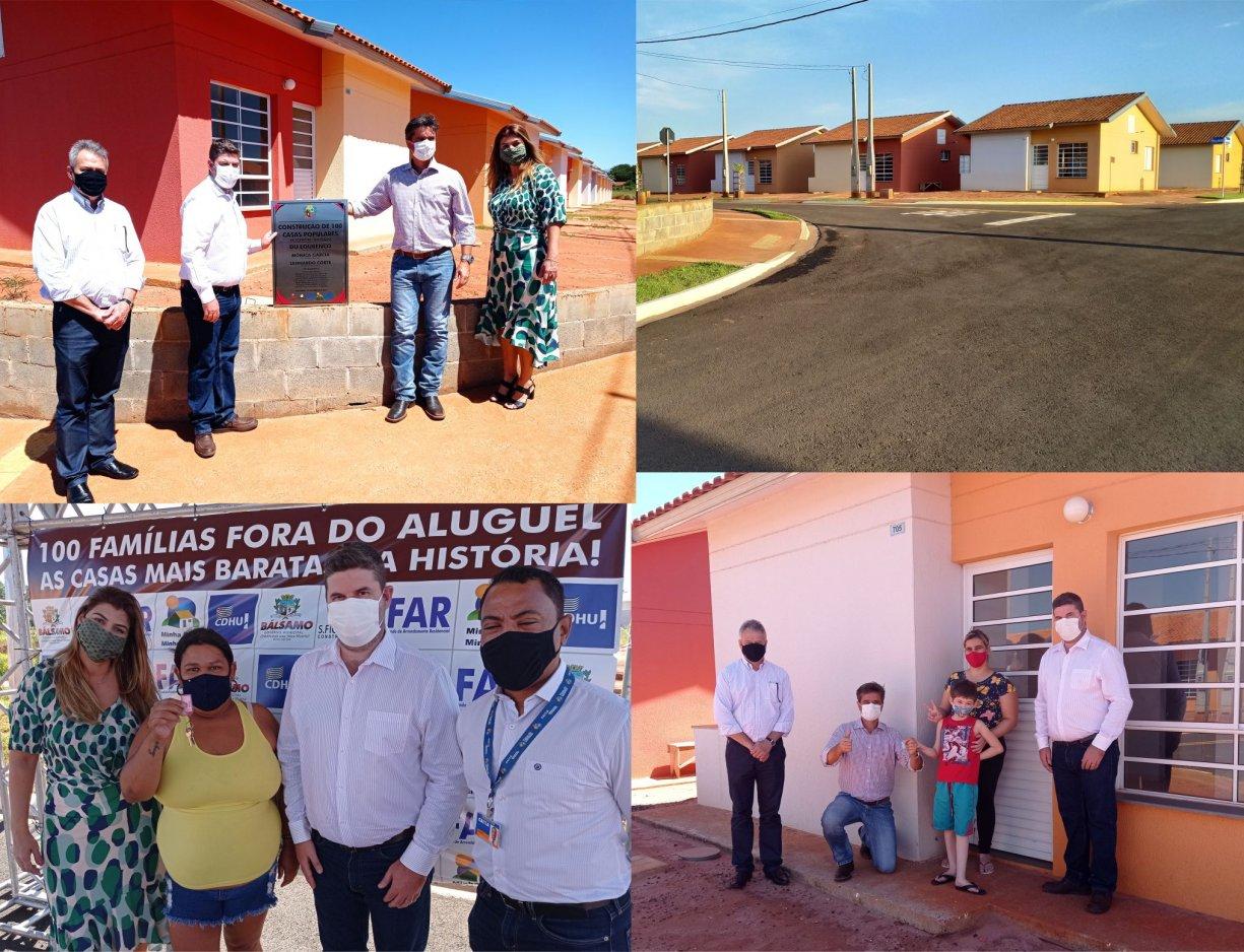 Prefeito Du Lourenço entrega as casas mais baratas da história de Bálsamo