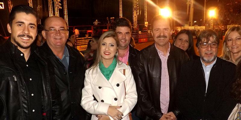 Prefeito Du Lourenço recebe Deputado Itamar Borges na 49ª Festa do Peão