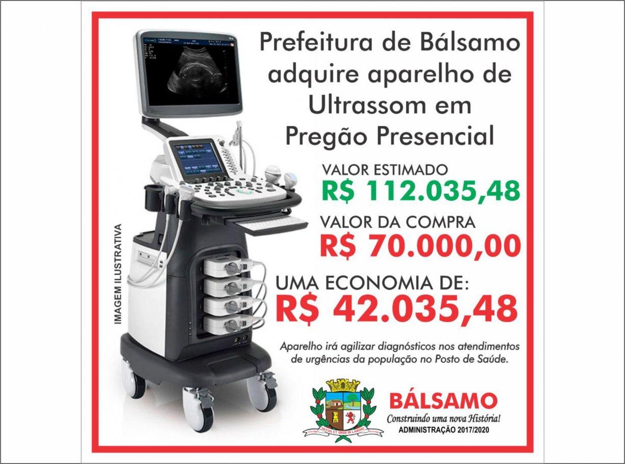 Prefeitura investe na aquisição de ultrassom de última geração para saúde