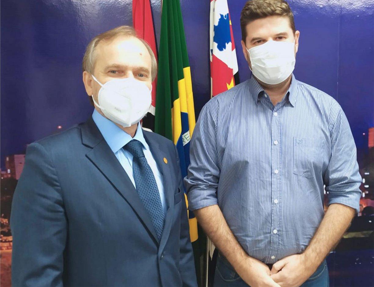Prefeito Du Lourenço esteve com o deputado Dirceu Dalben